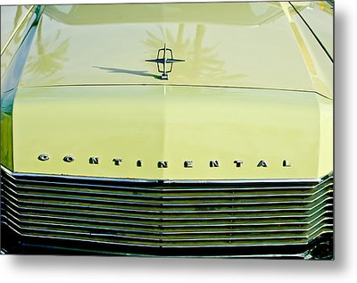 1967 Lincoln Continental Grille Emblem - Hood Ornament Metal Print by Jill Reger