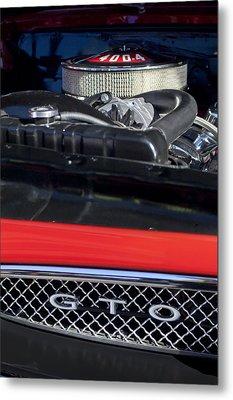 1967 Pontiac Gto Engine Emblem Metal Print by Jill Reger