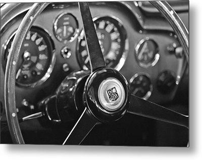 1968 Aston Martin Steering Wheel Emblem Metal Print by Jill Reger