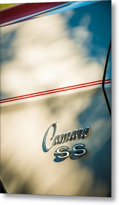 1969 Chevrolet Camaro Rs-ss Indy Pace Car Replica Side Emblem Metal Print by Jill Reger