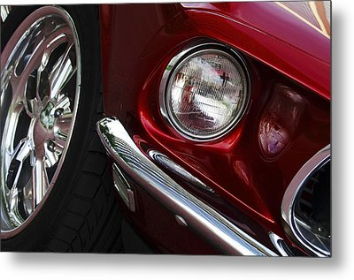 1969 Ford Mustang Mach 1 Front Metal Print by Jill Reger