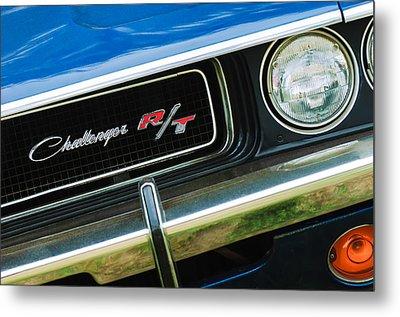 1970 Dodge Challenger Rt Convertible Grille Emblem Metal Print by Jill Reger