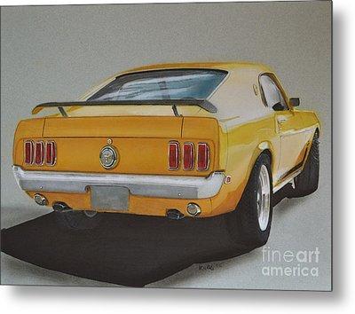 1970 Mustang Fastback Metal Print by Paul Kuras