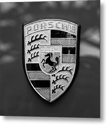 1970 Porsche 911 S 2.2 Coupe Emblem -0036bw55 Metal Print by Jill Reger