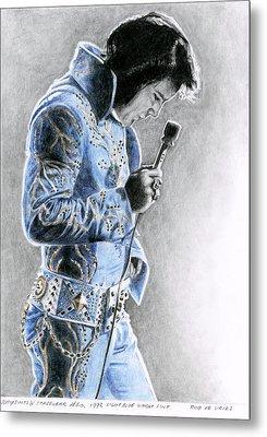 1972 Light Blue Wheat Suit Metal Print by Rob De Vries