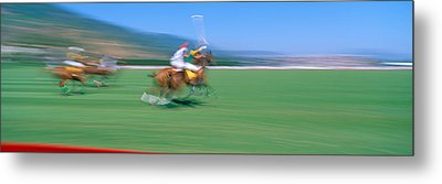 1998 World Polo Championship, Santa Metal Print by Panoramic Images