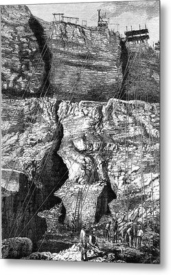 19th Century African Diamond Mine Metal Print by Collection Abecasis