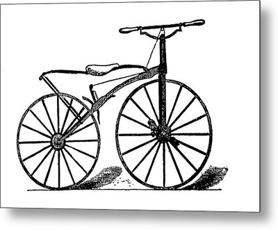 19th Century Velocipede Metal Print by Bildagentur-online/tschanz