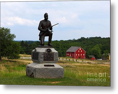 1st Pennsylvania Cavalry Defending Cemetery Ridge Metal Print by James Brunker