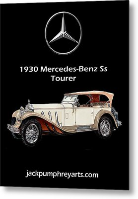 1930 Mercedes Benz Ss Tourer Metal Print by Jack Pumphrey