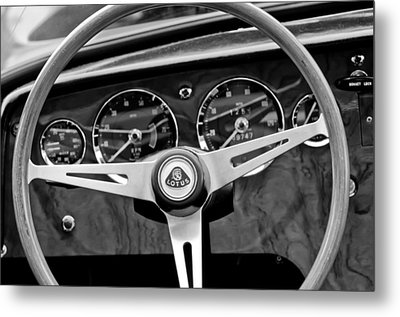 1965 Lotus Elan S2 Steering Wheel Emblem Metal Print by Jill Reger