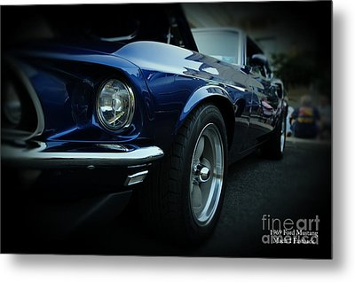 1969 Ford Mustang Mach 1 Fastback Metal Print by Paul Ward