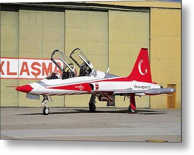 A Turkish Air Force F-5b-2000 Freedom Metal Print by Daniele Faccioli