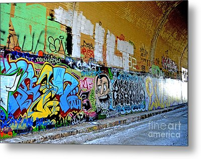 Abandoned Train Tunnel South Of The Old Train Roundhouse At Bayshore Near San Francisco  Metal Print by Jim Fitzpatrick