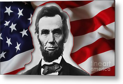 Abraham Lincoln Metal Print by Marvin Blaine