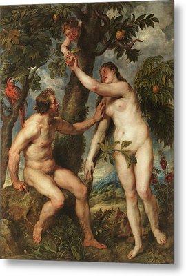 Adam And Eve Metal Print by Peter Paul Rubens