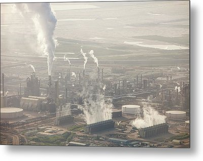 Air Pollution From Syncrude Tar Sands Metal Print by Ashley Cooper