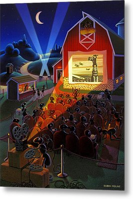 Ants At The Movies Metal Print by Robin Moline