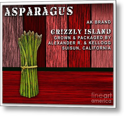 Asparagus Farm Metal Print by Marvin Blaine