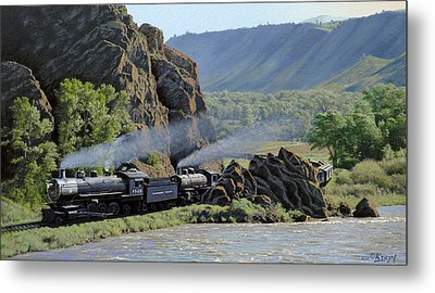 At Point Of Rocks-bound For Yellowstone Metal Print by Paul Krapf