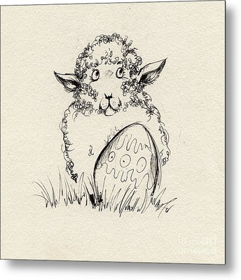 Baa Baa Metal Print by Angel  Tarantella