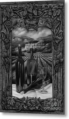 Bacchus Vineyard Metal Print by Ricardo Chavez-Mendez