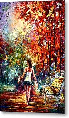 Barefooted Stroll Metal Print by Leonid Afremov