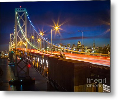 Bay Bridge Metal Print by Inge Johnsson