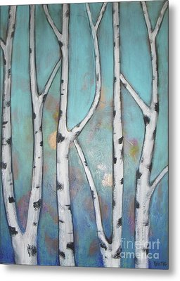 Birch Trees Metal Print by Vesna Antic