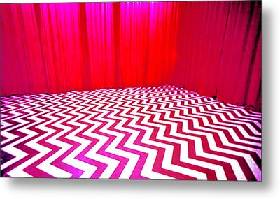 Black Lodge Metal Print by Luis Ludzska
