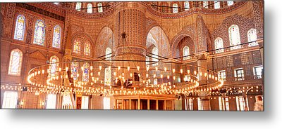 Blue Mosque, Istanbul, Turkey Metal Print by Panoramic Images