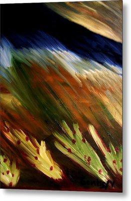 Blue Wheatie Metal Print by Bamhs Blair