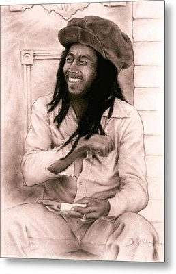 Bob Marley Metal Print by Guillaume Bruno