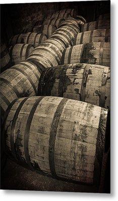 Bourbon Barrels Metal Print by Karen Zucal Varnas