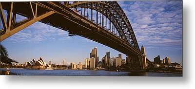 Bridge Across The Bay With Skyscrapers Metal Print by Panoramic Images