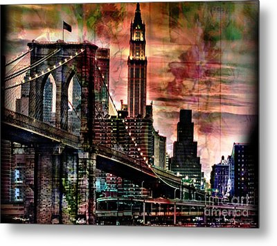 Brooklyn Bridge Metal Print by Christine Mayfield