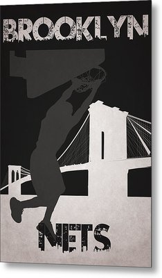 Brooklyn Nets Metal Print by Joe Hamilton