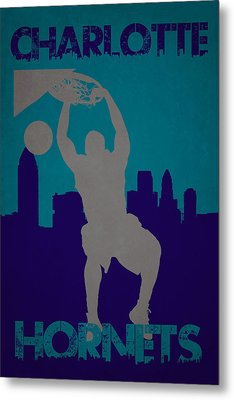 Charlotte Hornets Metal Print by Joe Hamilton