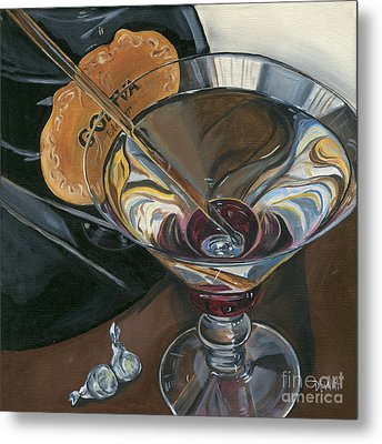 Chocolate Martini Metal Print by Debbie DeWitt