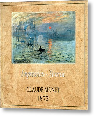 Claude Monet 2 Metal Print by Andrew Fare