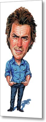 Clint Eastwood Metal Print by Art