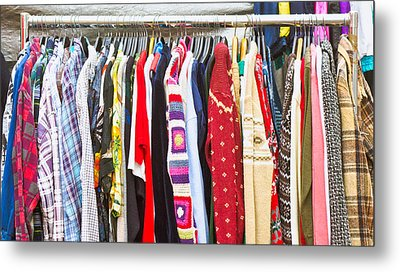 Clothes Metal Print by Tom Gowanlock