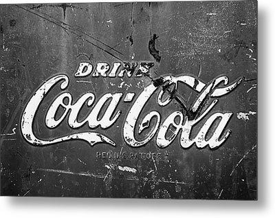 Coca-cola Sign Metal Print by Jill Reger