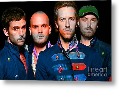 Coldplay Metal Print by Marvin Blaine