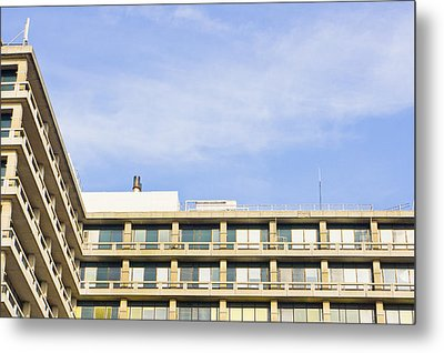 Concrete Building Metal Print by Tom Gowanlock