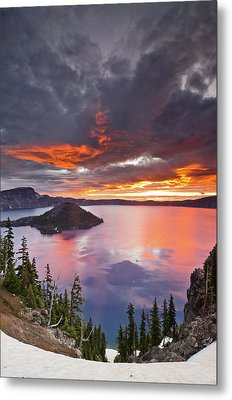 Crater Lake Dawn Metal Print by Greg Nyquist