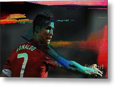 Cristiano Ronaldo Metal Print by Marvin Blaine
