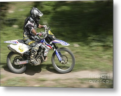 Cross Country Motorbike Racing Metal Print by PhotoStock-Israel