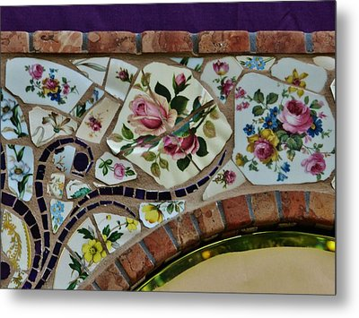 Detail Mosaics Metal Print by Charles Lucas