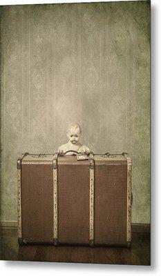 Doll In Suitcase Metal Print by Joana Kruse